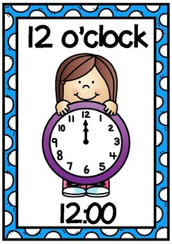 Clock Display Posters- O'clock times