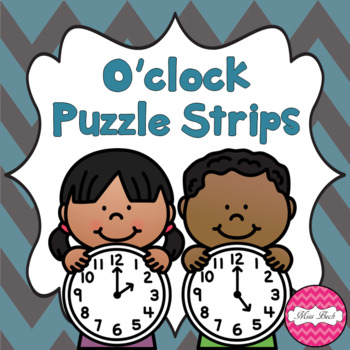Time Puzzle Strips- O'clock