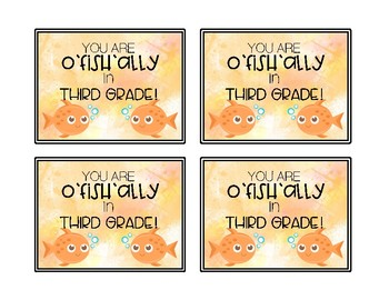 O'fish'ally in Gift Tag for Students