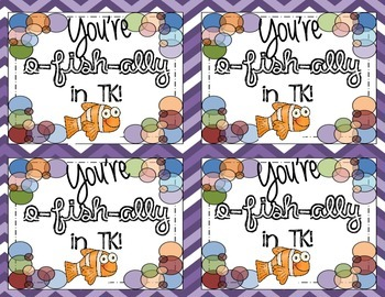 O-fish-ally (officially) In the Next Grade Labels or Tags for TK-6 Student Gifts