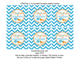 O'fishally a 2nd grader goody bag tags party stickers repo