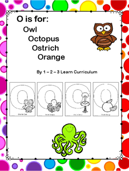 O is For: Cutting and Pasting Activity Sheets
