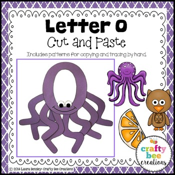 Letter O (Octopus) Cut and Paste