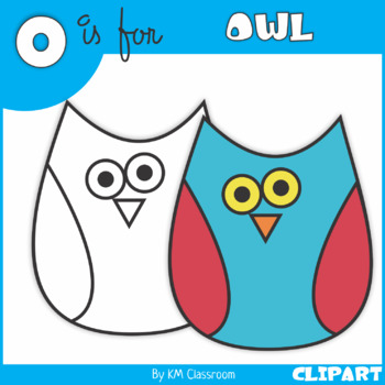 O is for Owl Clip Art