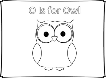 O is for Owl Coloring Sheet