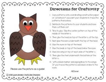 Letter O Craft {Owl}