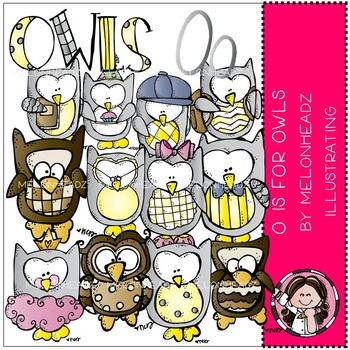 O is for owls by Melonheadz COMBO PACK