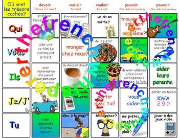 Où sont les trésors cachés? (DEVOIR, VOULOIR, POUVOIR) FRENCH