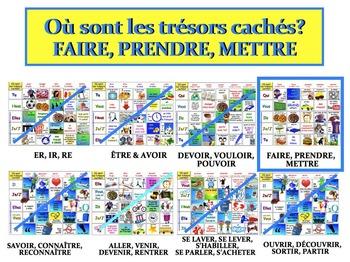 Où sont les trésors cachés? (FAIRE, PRENDRE, METTRE) FRENCH