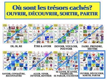 Où sont les trésors cachés? (OUVRIR, DÉCOUVRIR, SORTIR, PARTIR) FRENCH