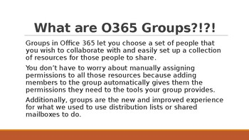 O365 Groups Powerpoint Presentation