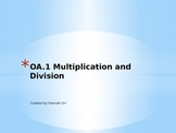 OA.1 Multiplication and Division Practice Problems