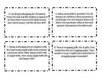 OA.8 Two-Step Word Problems Christmas-Themed