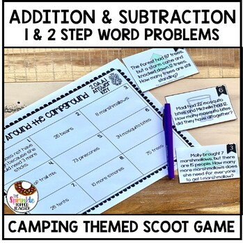 OA.A.1 Math Around the Campground Word Problem Scoot