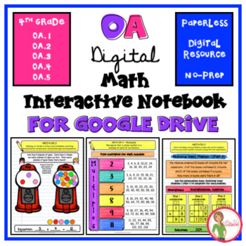 OA - Algebra and Operations - DIGITAL Interactive Notebook - FOR GOOGLE - 4th Gr