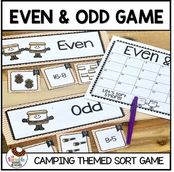 OA.C.3 Sort S'more Even & Odd Scoot Game Sorting