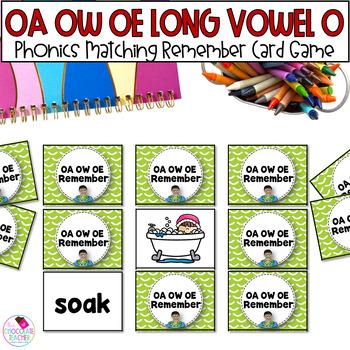 OA, OW, OE Long Vowel Memory Game