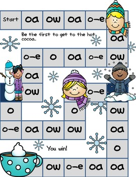 OA, O_E, OW, O Phonics Game and Word Sort