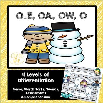 OA, O_E, OW, O Phonics Game and Word Sort