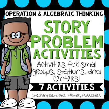 OA Story Problem Activities {Common Core Aligned 1.OA.1, 1.OA.2}