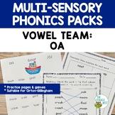 OA Vowel Digraph Orton-Gillingham Level 2 Multisensory Phonics Activities