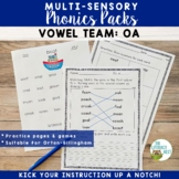 OA Vowel Digraph Orton-Gillingham Level 2 Multisensory Phonics Activities