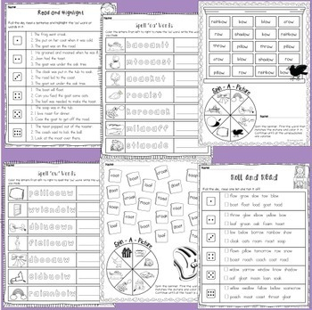 Free Printable Adjective Worksheets Excel Oa And Ow Vowel Digraphs  Posters And Worksheets By Teaching Trove Sermon Preparation Worksheet Word with Color By Subtraction Worksheets Word Oa And Ow Vowel Digraphs  Posters And Worksheets Rational Vs Irrational Numbers Worksheet