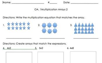 3OA.1 Multiplication with Arrays