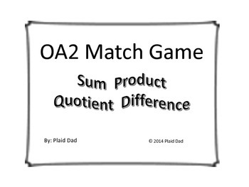 OA2 Match Game