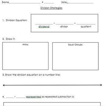 3OA.2, 3OA.3 Division Strategies Handout