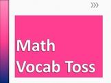 OAA Math Vocab Toss