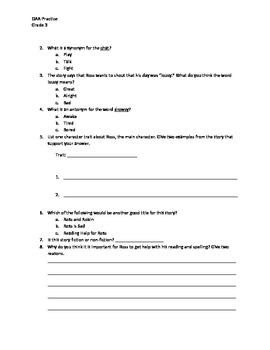 OAA test prep packet