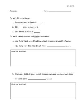 OA.A.1 Assessment (SBAC/ CRT)
