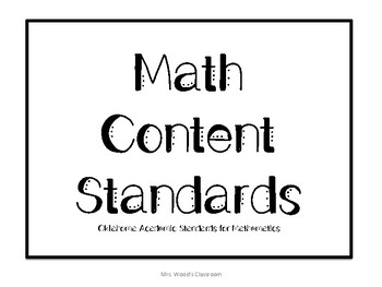 OAS Pre-K Math Content Standard Posters