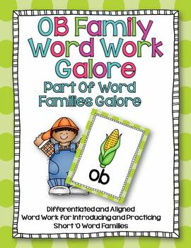 OB Word Family Word Work Galore-Differentiated and Aligned