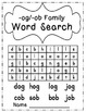 OB and OG Word Families Pack