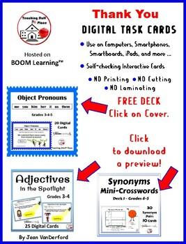 OBJECT PRONOUNS ... Grammar – Parts of Speech ... Plus DIGITAL DECK Gr 3-4-5