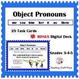 OBJECT PRONOUNS ... Grammar, Parts of Speech Plus Boom Learning DIGITAL Gr 3-4-5