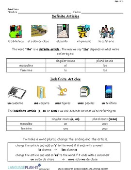 OBJECTS AND ARTICLES REVIEW (SPANISH)