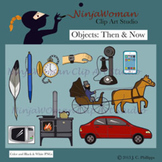 OBJECTS: Then & Now Clip Art