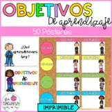 Objetivos de Aprendizaje | Learning Objectives Bulletin Board in Spanish