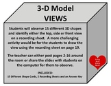 OBSERVING 3-D Models Top, Front and Side Views