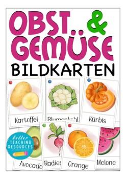 OBST und GEMÜSE Bildkarten Deutsch / DAF, German flash cards, Wortschatz, vocab