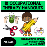 OCCUPATIONAL THERAPY 18 HANDOUTS & INFORMATIONAL SHEETS ... OT sped