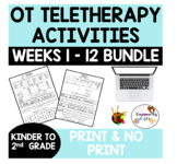 OCCUPATIONAL THERAPY TELETHERAPY 12 WEEKS EARLY ELEMENTARY distance learning