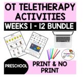 OCCUPATIONAL THERAPY Teletherapy BUNDLE PRESCHOOL 12 WEEKS