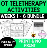 OCCUPATIONAL THERAPY Teletherapy prek-6 grade BUNDLE OT Di