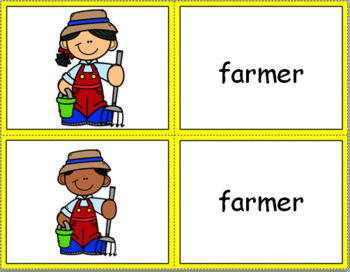 OCCUPATIONS/COMMUNITY HELPERS WORD AND PICTURE CARDS