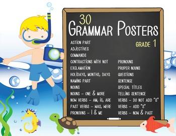 OCEAN - 1st grade GRAMMAR posters / Scott Foresman Reading