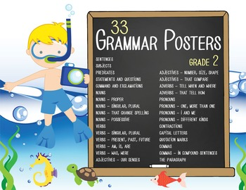 OCEAN - 2nd grade GRAMMAR posters / Scott Foresman Reading